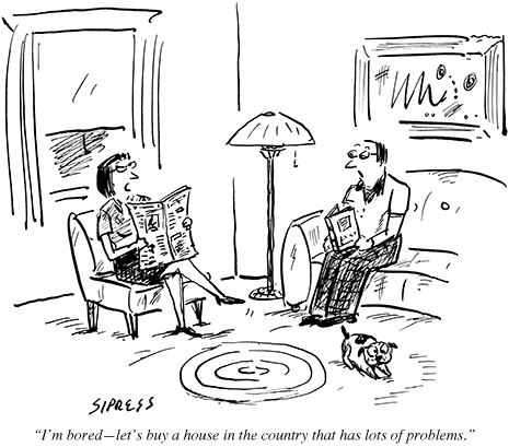 """""""I'm bored—let's buy a house in the country that has lots of problems."""""""