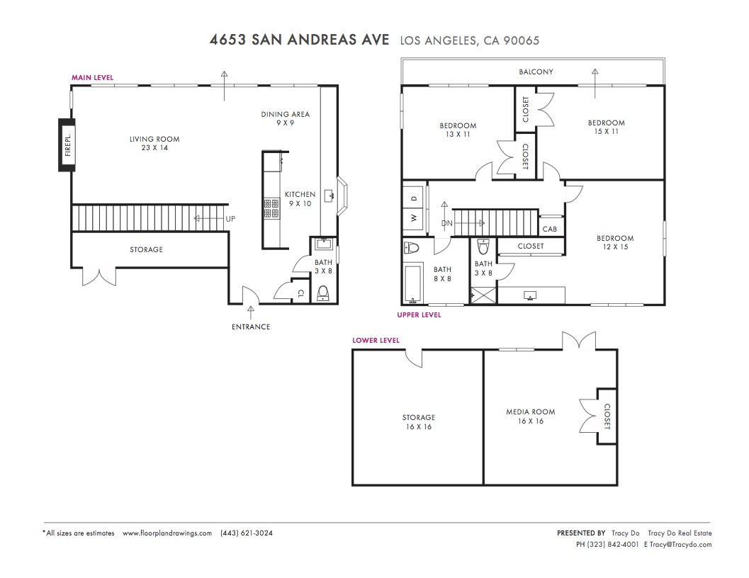 4653 San Andreas Ave Floorplan