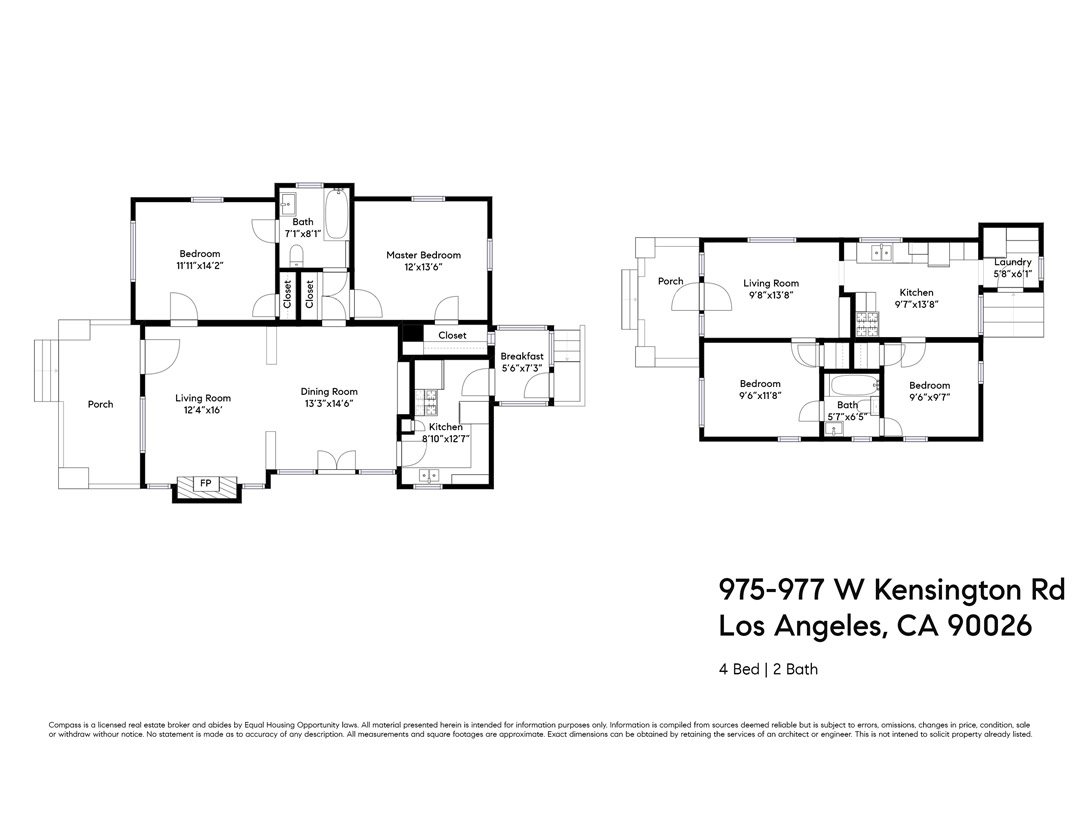 975 W Kensington Rd Echo Park Duplex Income Property for Sale Tracy Do Compass