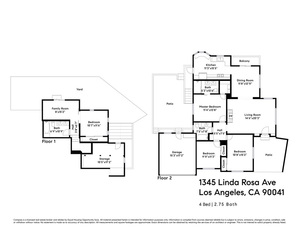 1345 Linda Rosa Ave Eagle Rock Home for Sale Tracy Do Compass
