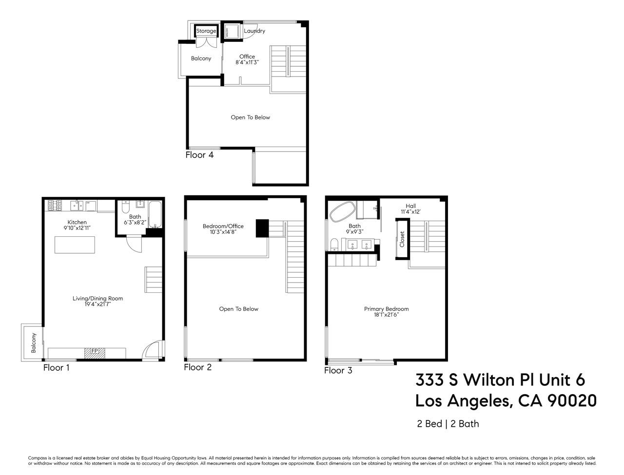 333 S Wilton Pl #1 Los Angeles, CA 90020 Hancock Park Loft for Sale Tracy Do Compass Real Estate